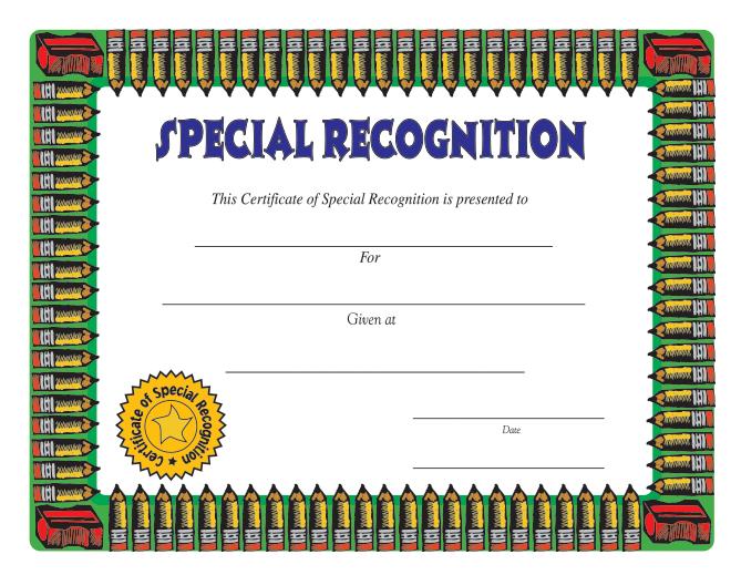 science award certificates
